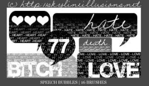 Speech Bubbles PS Brushes by SkylineIllusions