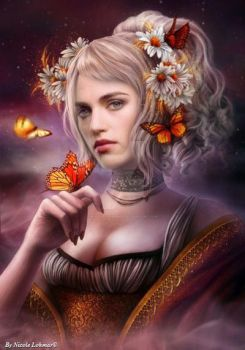 The butterfly princess by Nicole21Lohmar