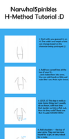 How I Draw Stuff: H-Method Tutorial by NarwhalSprinkles