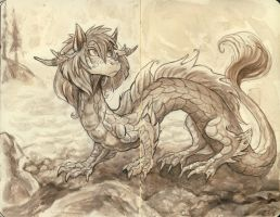 Dragon by the sea by spocha