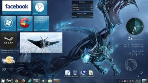 Dragon rainmeter screenshot by dream23232