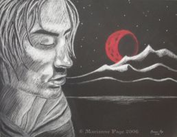 Crimson Moonrise by seclusivebeauty