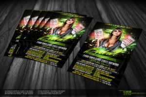 BlackOut Party Flyer - Front by Gallistero
