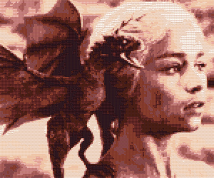 Daenerys Cross Stitch Pattern Preview by shingorengeki