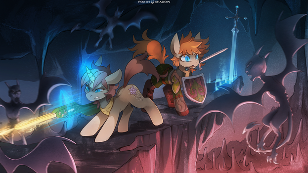 Dungeons and Ponies by FoxInShadow