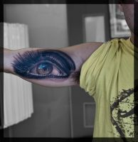 eye tattoo by tattooneos