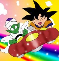 Goku And Piccolo: Happy Days by HTivey