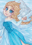 ACEO: Queen Elsa by Primarella
