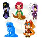 Assorted Chibis - Mostly OCs by Dragon-FangX