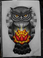 owl lotus by FraH