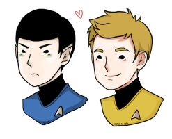 Spock_Kirk by bluehippopo