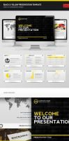 Black And Yellow PPTX Template by erigongraphics