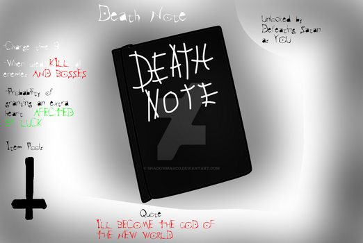 TBOI Item idea: Death Note by ShadowMarco