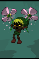 Deku Link Flower Flight by Skystalker