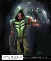 Smallville Green Arrow by GavinMichelli