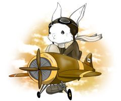 Aviator Bunny by kidbrainer