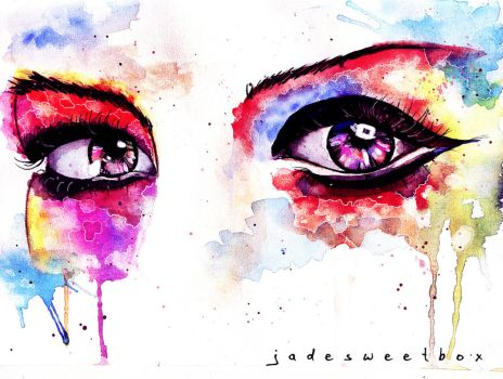 Eye Study Watercolor II by Jadesweetboxx