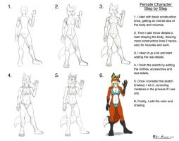 Female Char Step by Step by Darkkraven