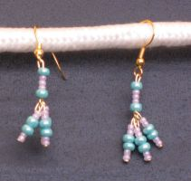 Cotton Candy Tridrop Earrings by LadyTal