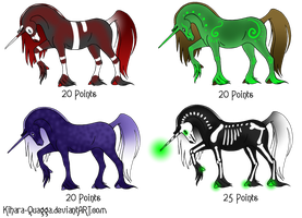 Point Unicorn Adoptables by Kihara-Quagga