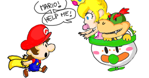 Baby Mario chasing Baby Bowser by DaisyDrawer