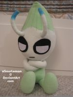 1:1 grumpy Celebi plush by aSourLemon