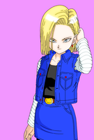 Android 18 by Arty-Buu-Chan
