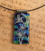 Fused Glass Lily Pendant by FusedElegance