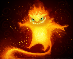 DAY 374. Fire Imp by Cryptid-Creations