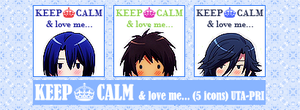 KEEP CALM and love me... UTAPRI Icons Pack by ChinJin