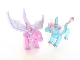 Pony Dragon and Kirin Dolls by vonBorowsky
