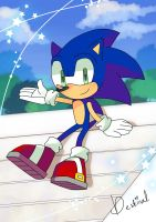 Sonic on Steps by destinal