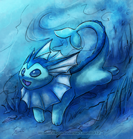 SQ-Vaporeon by WindieDragon