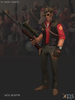 Sniper - Team Fortress 2 (Blue and Red) by JhonyHebert