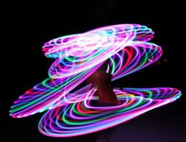 ME AND MY LED HULA HOOP by SassySumoArt