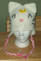 Custom Artemis ear flap hat by YarnAlchemy