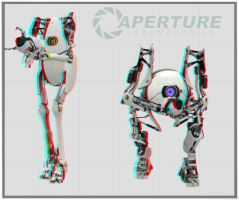 Portal 2 - anaglyph 3D by Dan-the-builder