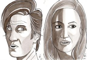 Doctor Who and Amy Ponder by nathanobrien