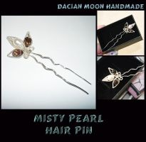 Misty Pearl hair pin by NessaSilverwolf