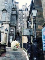 Meanwhile in the old city of Edinburgh by Cyberella74