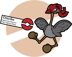 Fake Pokemon: Ostrike by Sageroot