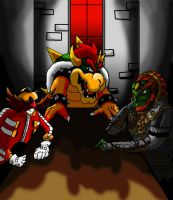 A Treacherous Trio (Bowser,Ganondorf, and Eggman) by Blahlol123