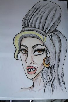 Amy Winehouse caricature by judd-ia
