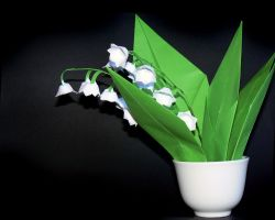 Origami - Lily of the Valley by Stripe-O
