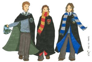 Hogwarts students by simara