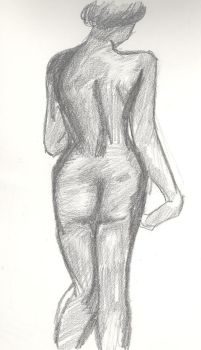 Female Figure by Red-Red-Rose