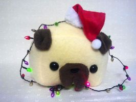 Holiday Pug by Jonisey