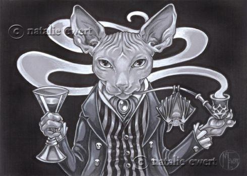 Lord Hairless with Sherry and Pipe by natamon