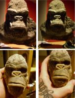 king kong bust by chrisxart