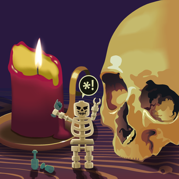 Ghost and Skeleton: Warm Welcome by Shinara